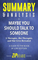 Summary & Analysis of Maybe You Should Talk to Someone Pdf/ePub eBook