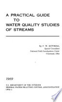 A Practical Guide to Water Quality Studies of Streams