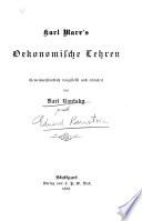 Karl Marx' oekonomische lehren