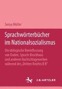Sprachwörterbücher im Nationalsozialismus