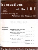 Transactions of the I.R.E. Professional Group on Antennas and Propagation