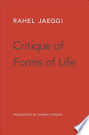 On the Critique of Forms of Life