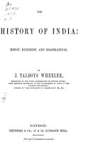 The History of India from the Earliest Ages  Hindu Buddhist Brahmanical revival