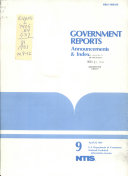 Government Reports Announcements and Index