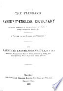 The Standard Sanskrit English Dictionary