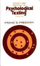 Theory And Practice Of Psychological Testing  3 E Book