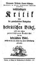 Benjamin Wilhelm Daniel Schulze, Professors im Königl. ... ...