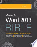 """Word 2013 Bible"" by Lisa A. Bucki"