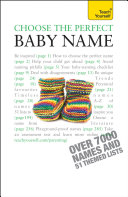 Pdf Choose the Perfect Baby Name: Teach Yourself