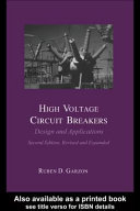 High Voltage Circuit Breakers ebook
