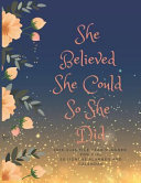 She Believed She Could So She Did  2019 2023 Five Year Planner for Girl  60 Months Planner and Calendar