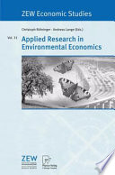 Applied Research In Environmental Economics Book PDF