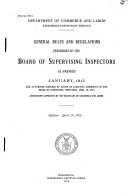 General Rules and Regulations Prescribed by the Board of Supervising Inspectors