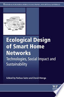 Ecological Design of Smart Home Networks Book