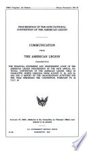 Proceedings of the 84th National Convention of the American Legion