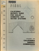 California Buyer S Guide For Solar Domestic Hot Water Systems Book PDF