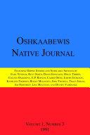 Oshkaabewis Native Journal  Vol  1  No  3