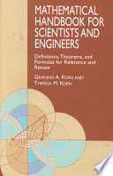 Mathematical Handbook For Scientists And Engineers Definitions Theorems And Formulas For Reference And Review [Pdf/ePub] eBook