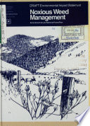 Lolo National Forest (N.F.), Noxious Weed Management Plan