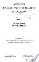 Directory - American Speech and Hearing Association