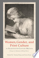 Women  Gender  and Print Culture in Eighteenth Century Britain