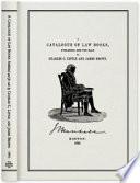 A Catalogue Of Law Books Published And For Sale By Charles C Little And James Brown