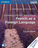 Books - Cambridge Igcse� French As A Foreign Language Coursebook With Audio Cds (2) | ISBN 9781316623589