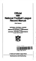 Official Nineteen Eighty One NFL Record Manual