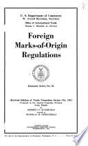 Foreign Marks-of-origin Regulations
