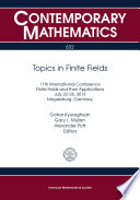 Topics In Finite Fields