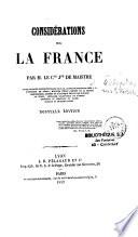 Considerations sur la France ...