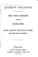 The Four Orations Against Catiline