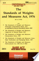 The Standards of Weights and Measures Act, 1976