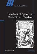 Freedom of Speech in Early Stuart England