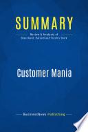 Summary Customer Mania Book PDF
