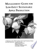 Management Guide for Low Input Sustainable Apple Production