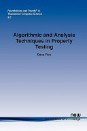 Algorithmic and Analysis Techniques in Property Testing