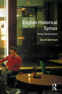 English Historical Syntax Pdf/ePub eBook
