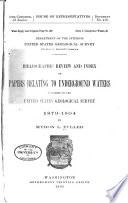 Bibliographic Review And Index Of Papers Relating To Underground Waters Published By The United States Geological Survey 1879 1904