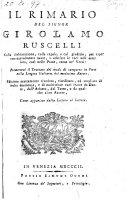 Rimario. Premessovi il trattato del modo di comporre in versi nella lingua italiana del medesimo autore. Ed. riveduta, riordinata ed ampliata