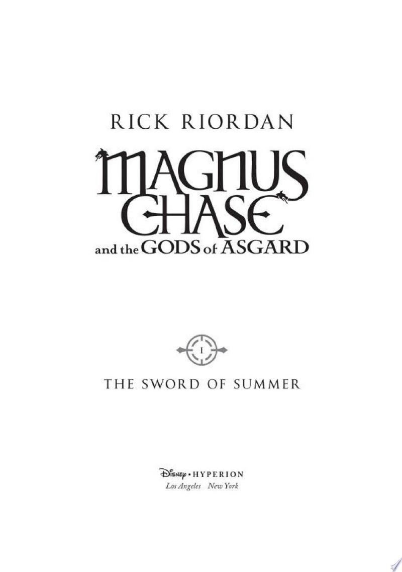 Magnus Chase and the Gods of Asgard, Book 1: The Sword of Summer image