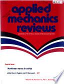 Applied Mechanics Reviews Book