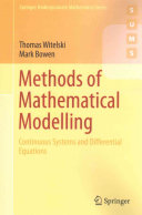 Methods of Mathematical Modelling Book