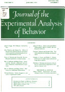 Journal of the Experimental Analysis of Behavior
