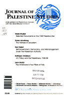 Journal of Palestine Studies Book