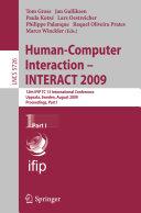 Human-Computer Interaction - INTERACT 2009