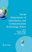 Pdf Social Dimensions of Information and Communication Technology Policy Telecharger