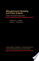 Microeconomic Modeling and Policy Analysis Book