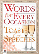 Words for Every Occasion Toasts   Speeches