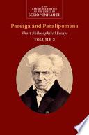 Schopenhauer  Parerga and Paralipomena  Volume 2